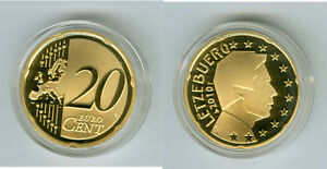Luxembourg 20 Cent Pp / Proof (Choisissez Entre : 2002 - 2017)