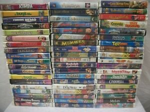 AMAZING-Lot-57-Children-039-s-Kids-Family-VHS-Tapes-Movies-DISNEY-MULAN-and-OTHERS