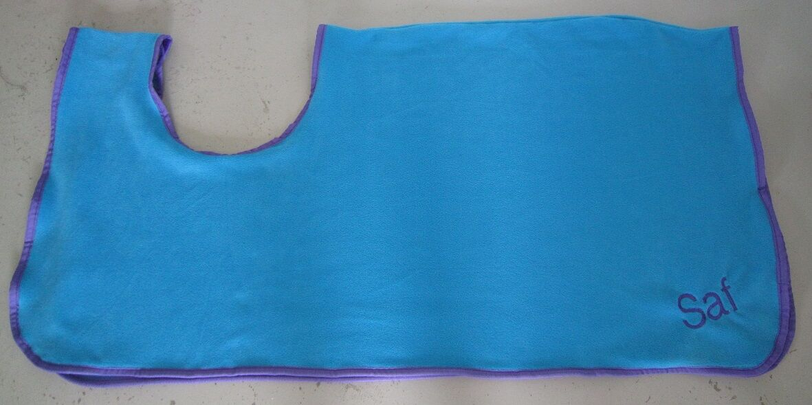 Horse REMOVABLE Exercise Sheet FREE EMBROIDERY Sky bluee Choose size & Binding