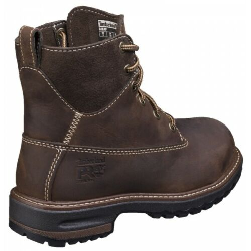 Timberland Pro HIGHTOWER Ladies Leather Safety Work Steel Toe Cap Boots Kaffee