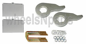 "Lift Kit Chevy 1992 - 1999 K1500 6 Lug Forged Torsion Keys & 3"" Aluminum Blocks"