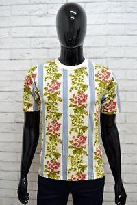 Maglia-SISLEY-Uomo-Taglia-Size-S-Maglietta-Shirt-Man-Manica-Corta-Cotone-a-Fiori