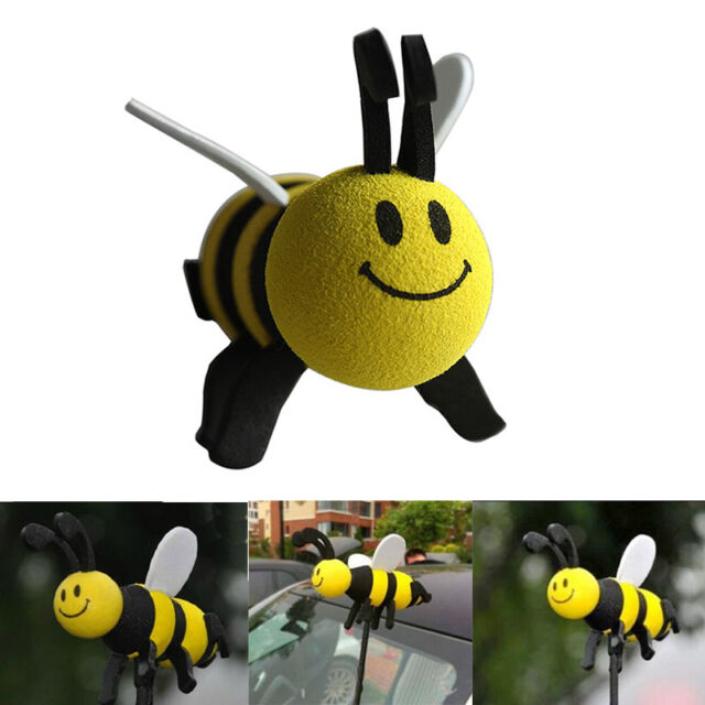 Cute Car  Honey Bumble Bee Aerial Antenna Pen Topper Ball Decoration Toy SP