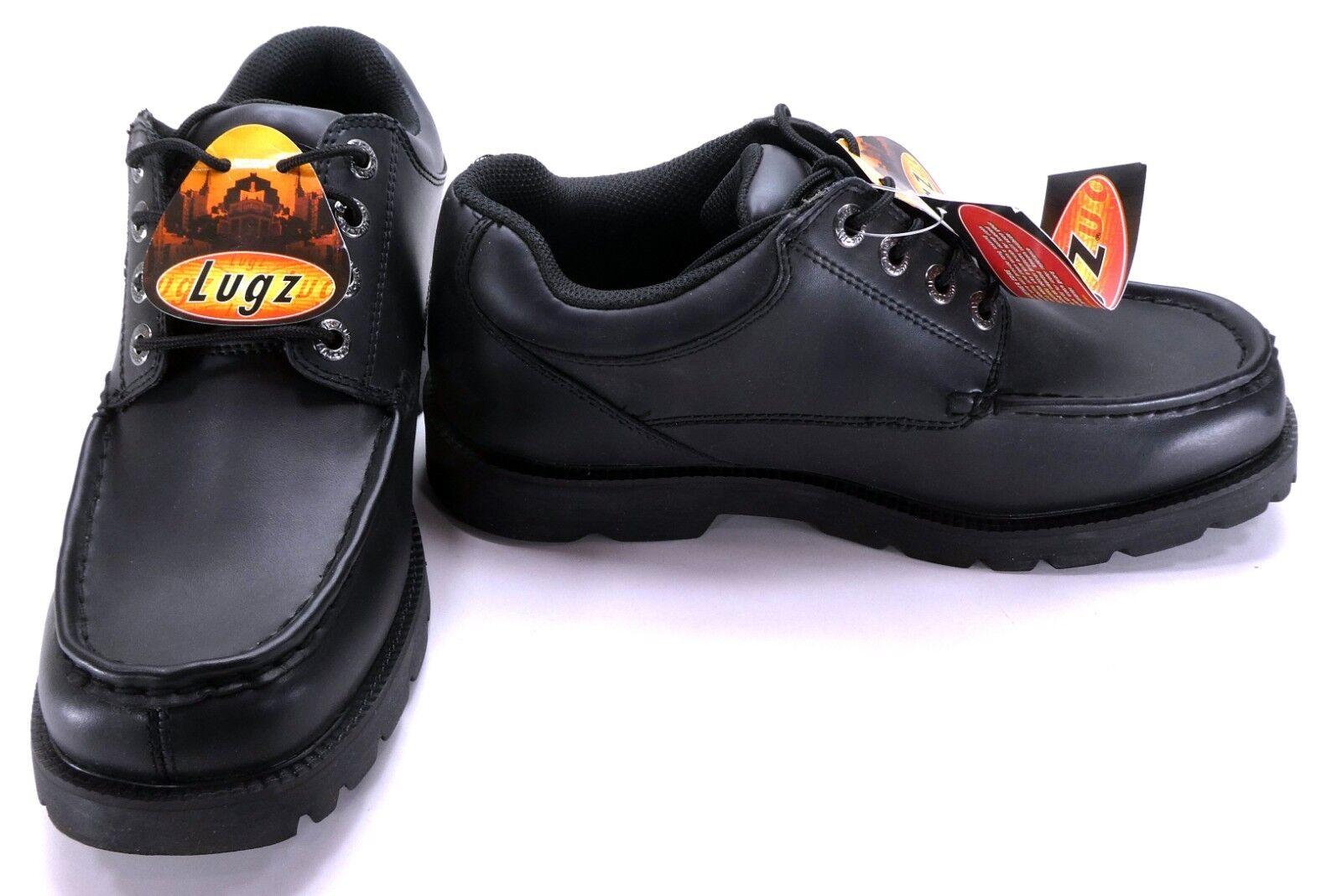 Lugz Zapatos botas Negras De Cuero Apilador lo Atléticos tamaño 8.5