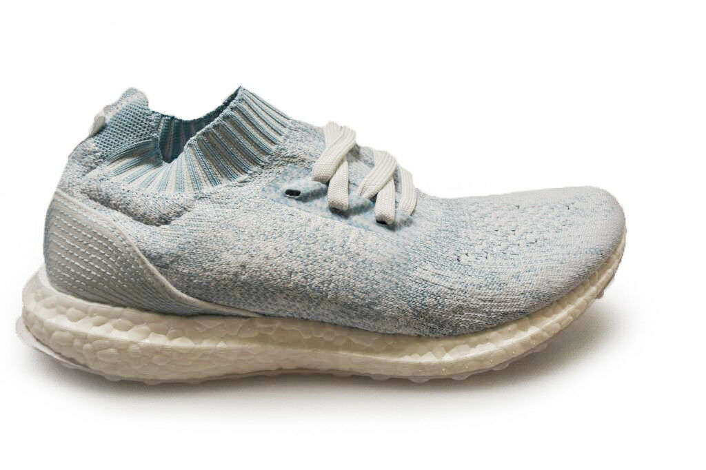 Mens Adidas Ultra BOOST Uncaged Parley - CP9686 - bluee White Trainers