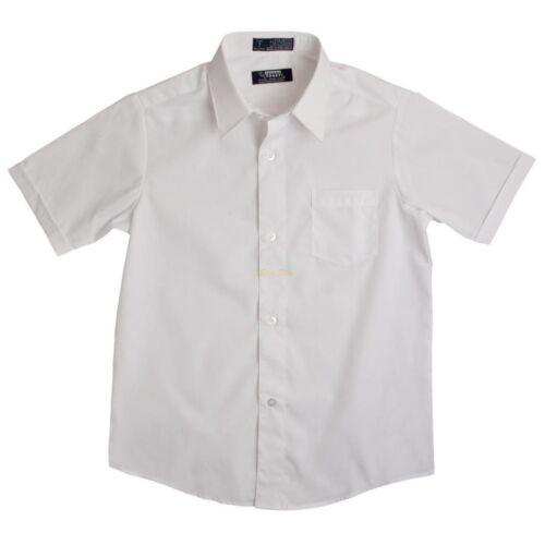 French Toast Back to School White Short Sleeve Dress Shirt Size 2T-20 NWT