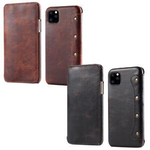 Dettagli su Custodia libretto VERA PELLE cover Vintage Leather Case Apple iPhone 11 Pro 5.8