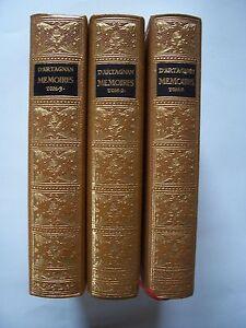 ed-Jean-De-Bonnot-Memoires-de-D-039-ARTAGNAN-3-Tomes-illustres-ex-libris-1965