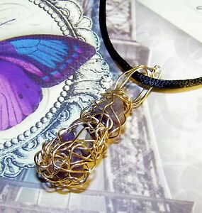 STUNNING-HAND-CRAFTED-GOLD-WIRE-WRAPPED-SUGILITE-PENDANT-1-3-4-INCHES