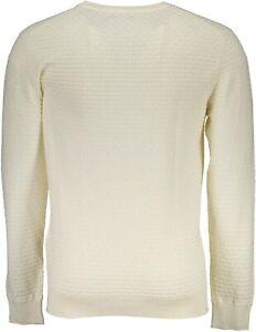 GANT-Men-039-s-Cream-O1-Cotton-Texture-Crew-88543-Size-Medium-NWT