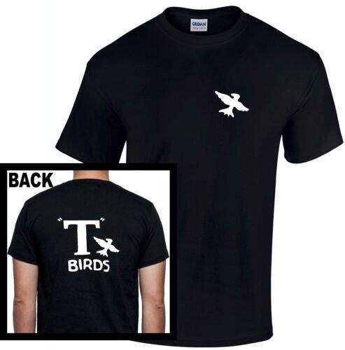 T Birds T-Shirt Grease John Travolta T Bird Men Kids  Rydell High 80s Retro