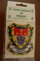 County MAYO Irish PATCH Coat of Arms - Crest - Embroidered - Badge - Ireland