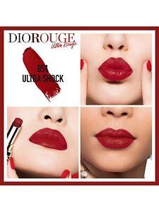 Dior Ultra Rouge Long-Lasting Lipstick Moisturizing Effect 851 Ultra Shock NEW
