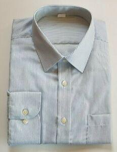 Size 14.5 to 18.5 Ex M/&S MENS SKY BLUE Pure Cotton Reg.Fit Shirt