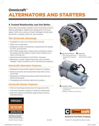Alternator-GAS OMNICRAFT QGL713412N