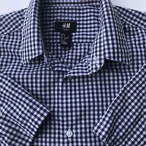 S M L XL XXL Mens Short Sleeve Dress Shirt Slim Fit Button Down Casual NWT