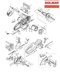 Ersatzteile für DOLMAR ES-42 A Elektro-Motorsäge