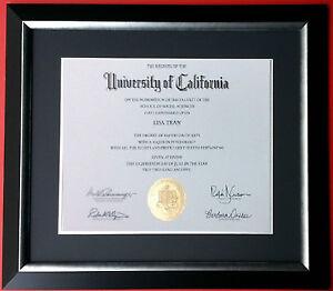 custom matted black navy blue silver diploma certificate frame