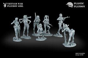 2020 Plastic Platoon Toy Soldier Vietnam War Playboy Girl Collectible New 18