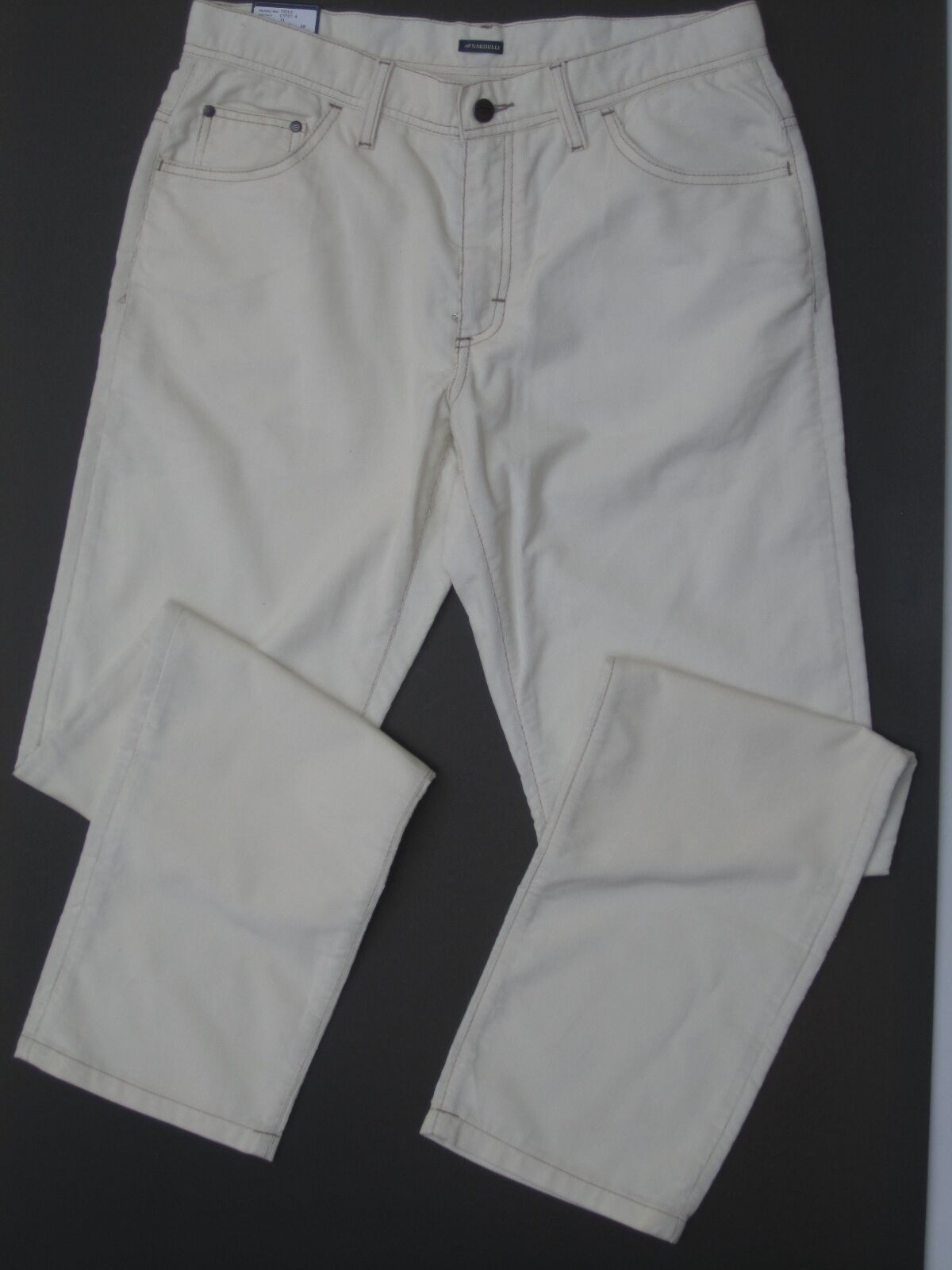 NARDELLI  OFF WHITE CORDUROY COTTON JEANS PANTS 50 34 NWT factory of CUCINELLI