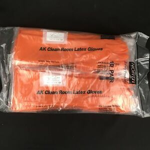 Latex gloves extra long Size 8 15 inch 20 Mil Pack of 10 Pairs rubber Clean room