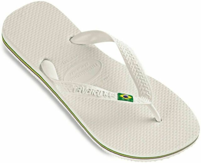 fbceb9312d5e0 Havaianas Unisex Brazil White Flip Flops 4000032 8 UK for sale ...