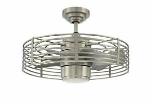 Satin Nickel Finish and Integrated Opal White Glass Light Kit Kendal AC17723-SN Enclave 7-Blade 1 Light Ceiling Fan