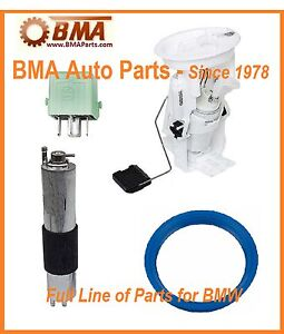 BMW E46 323 325 328 330 Electric Fuel Pump /& Pump O-Ring Gasket Kit VDO New