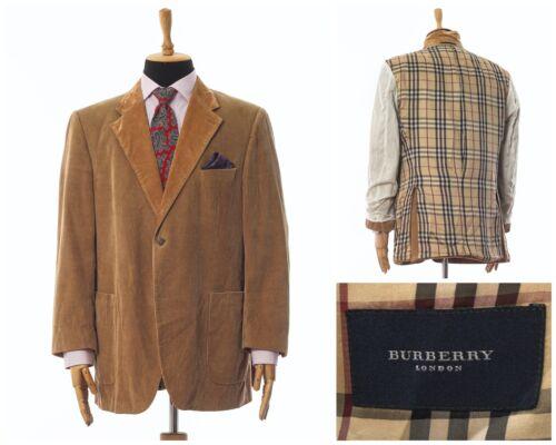 Mens BURBERRY Blazer Coat Jacket Corduroy Cotton … - image 1