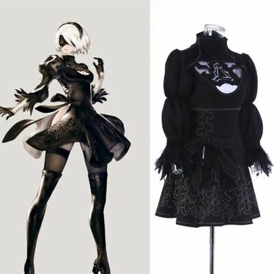 NieR:Automata 2B YoRHa No full set 2 Type B Heroine Dress Cosplay Costume