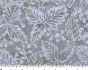 Marcus-Batiks-Gray-100-Cotton-Quilt-Fabric-44-Wide-Leaf-Motif-Sea-Batik