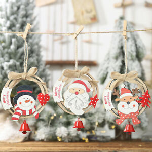 Christmas Wood Crafts.1pc Christmas Wooden Pendants Ornaments Wood Crafts Kids