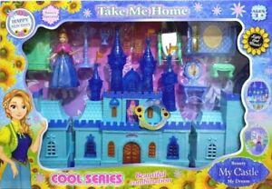 Girls-jugar-Castle-Luz-Conjunto-de-Juego-De-La-Musica-Casa-Muneca-Princesa-Conjunto-de-Juego-para