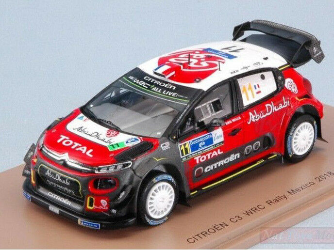 Spark Model 1 43 s5962 Citroen C3 WRC  11 Rally Mexico 2018 Loeb Elena NEW