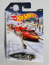 Hot Wheels 2015 Holiday Hot Rods Wal-Mart Exclusives 6/6 Ford Gangster Grin