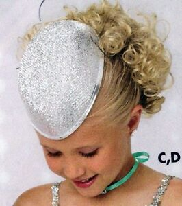 Lot of 12 Silver Lurex teardrop hats w/felt base Dance Theatrical Use
