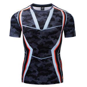Mens-T-shirt-3D-Printed-Iron-man-Avengers-Fashion-Compression-Outdoor-Sweatshirt