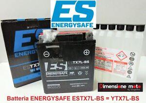 """Batteria ENERGYSAFE ES-TX7L-BS 12V-6Ah """"MF"""" per SYM Husky 125 dal 1989"""