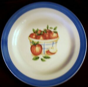 EUC-10-5-034-Dinner-Plate-by-Atico-International-USA-Apples-in-a-Basket-Blue-Lip