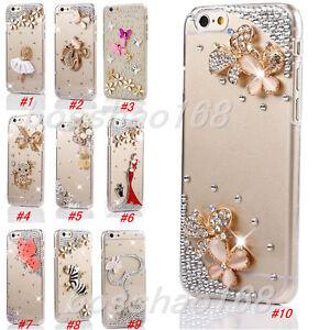 Glitter-Luxury-Bling-Diamonds-Stones-gems-hard-PC-back-Phone-Case-Cover-Skin-N