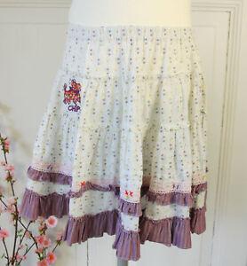 DéLicieux Chipie Jupe Tellerrock Stufenrock Blanc Lilas Fleurs Taille 8 128 (b415)-afficher Le Titre D'origine ModéLisation Durable