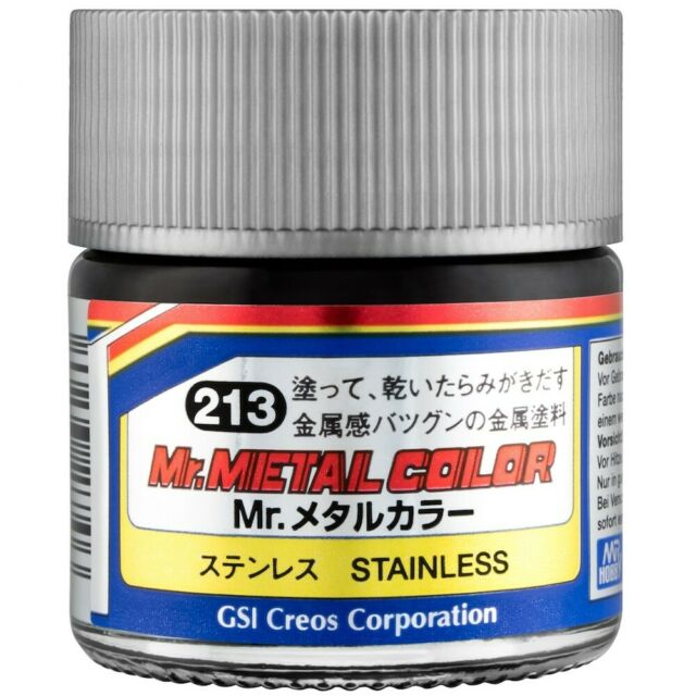 Mr Hobby Mr Metal Color Mc213 Stainless Steel Paint 10ml Model US ...