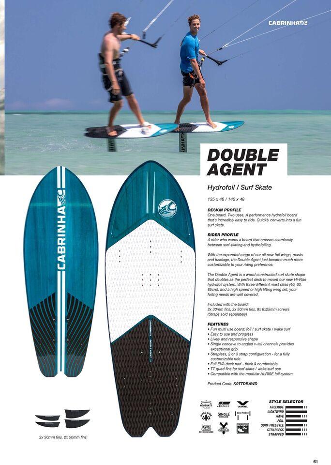 Board, Cabrinha Double Agent , str. 145x48