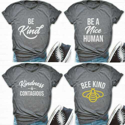 Bee Kind T-shirt Unisex Tee Kindness Tops Casual Shirt Funny Short Sleeve Blouse