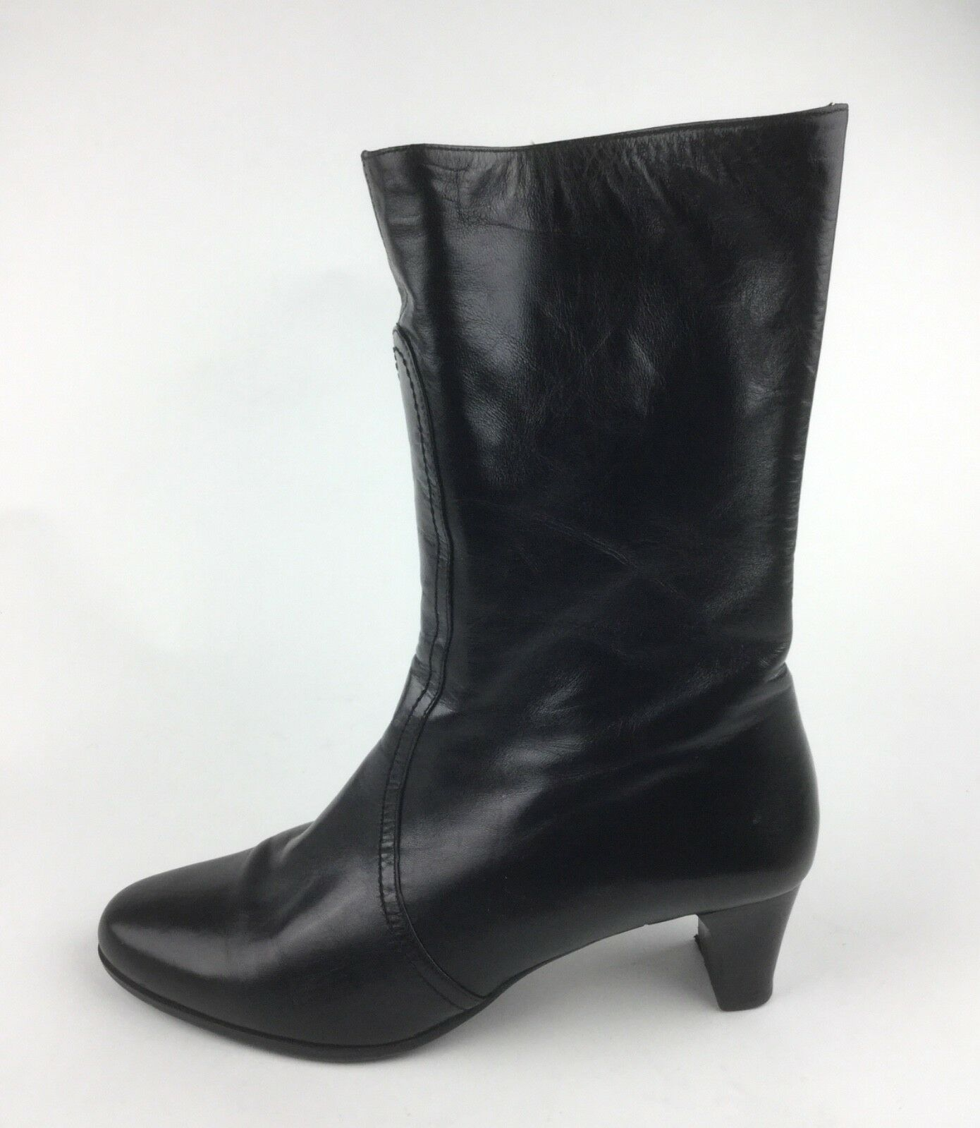Cole Haan Womens Black Leather Boots Heels Sz US US US 7.5 b6aa92