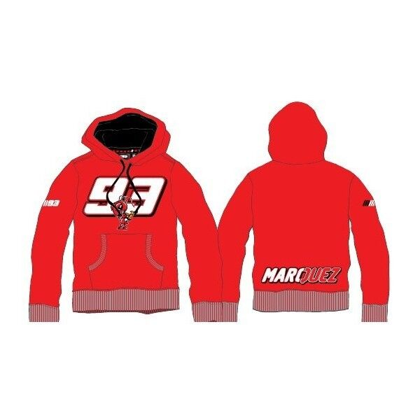 NUOVO Ufficiale Marc Marquez 93 Felpa con Cappuccio Cappuccio Cappuccio Rosso - 12 xmmfl 2930 07 480a6d
