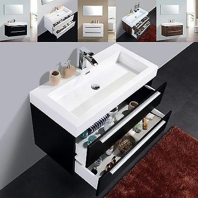 BERNSTEIN Badmöbel M-Serie Waschbecken Unterschrank weiß/schwarz oder walnuss