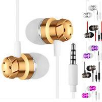 Super Bass Stereo 3.5mm In-Ear Earphone Headphone Earbud Metal Headset w/Mic AL