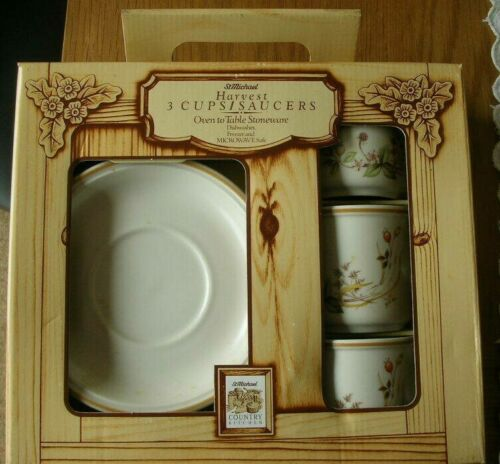 NEW in box Marks /& Spencer Harvest Cups and Saucers
