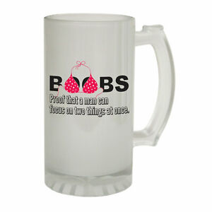 Beer Stein Funny Novelty Christmas Birthday Frosted Pint Glass boobs proof